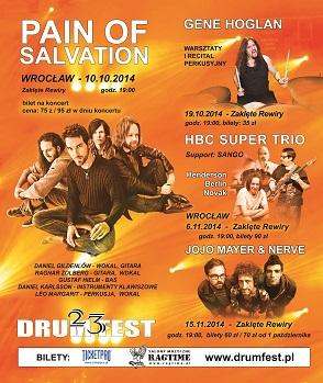 Koncert Pain of Salvation w ramach 23 Międzynarodowego Festiwalu DRUM FEST,