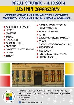 DRZWI OTWARTE w Centrum Edukacji Kulturalnej Dzieci i Młodzieży we Wrocławiu