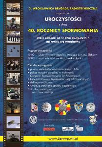 40-lecie sformowania 3. Wrocławskiej Brygady Radiotechnicznej, przelot f-16