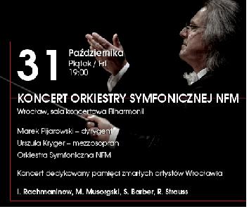 Koncert Orkiestry Symfonicznej NFM, dedykowany pamięci zmarłych artystów Wrocławia
