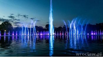 Koniec sezonu fontanny multimedialnej na pergoli