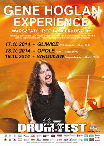XXIII Międzynarodowy Festiwal DRUM FEST - GENE HOGLAN EXPERIENCE