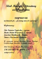 Koncert pt. Jesienny wieczór operowy