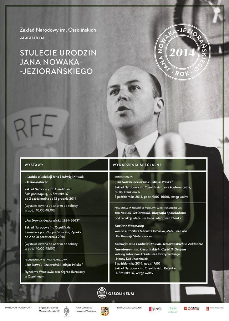 """Wystawa biograficzna: """"Jan Nowak-Jeziorański. 1914-2005"""""""