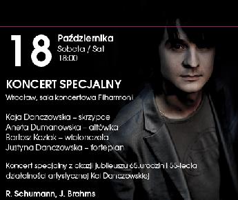 Koncert specjalny z okazji jubileuszu 65.urodzin i 50-lecia działalności artystycznej Kai Danczowskiej