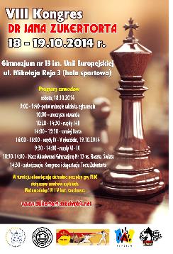 VIII Kongres dr Jana Zukertorta 2014 Pierwszego Szachowego Wicemistrza Świata