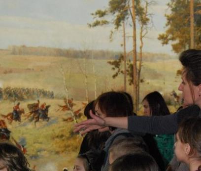 Zwiedzanie Panoramy Racławickiej z lekkim zawrotem głowy