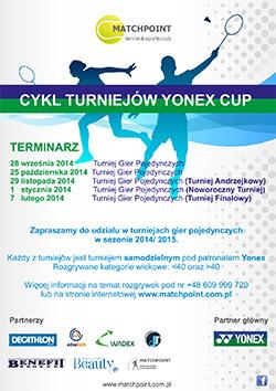 Turniej Gier Pojedynczych Matchpoint Yonex Cup