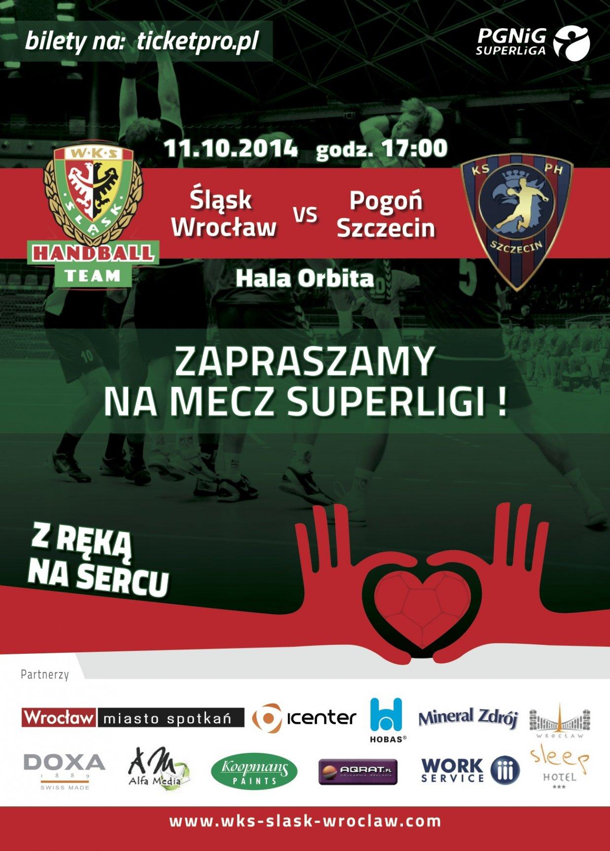Mecz piłki ręcznej - Śląsk Wrocław - Pogoń Szczecin