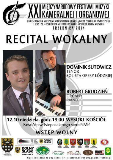 Recital wokalny Dominika Sutowicza
