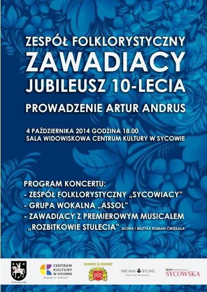 Jubileusz 10-lecia zespołu Zawadiacy