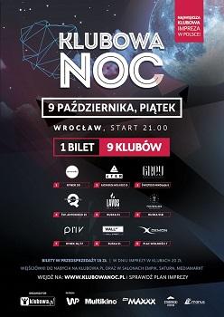 Klubowa Noc - 1 bilet - 9 klubów