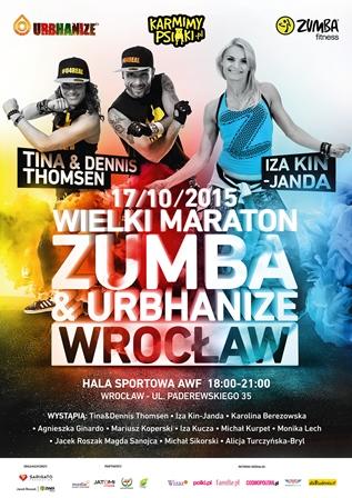 Wielki Charytatywny Maraton Zumba & Urbhanize dla Psiaków