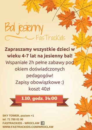 Bal jesienny w FasTracKids!