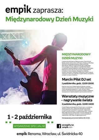 Międzynarodowy Dzień Muzyki w Empiku – spotkania, warsztaty dla dzieci