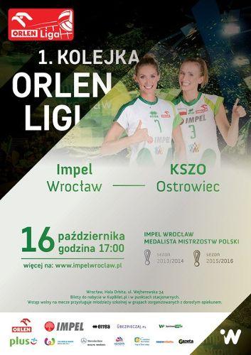 Mecz siatkówki Impel Wrocław – KSZO Ostrowiec
