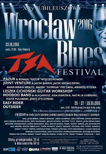 X Jubileuszowy Wrocław Blues Festival 2016