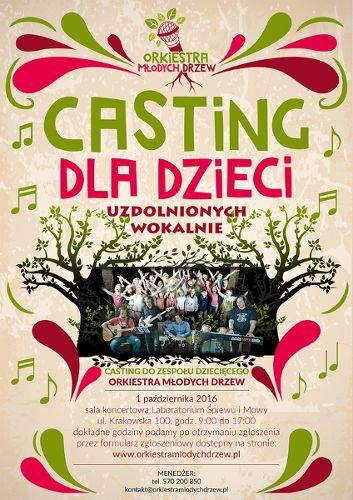 Casting do Orkiestry Młodych Drzew dla dzieci