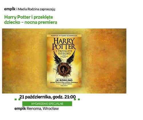 """Premiera książki """"Harry Potter i Przeklęte Dziecko"""" w Emipk Renoma"""