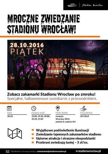 Mroczne zwiedzanie Stadionu Wrocław