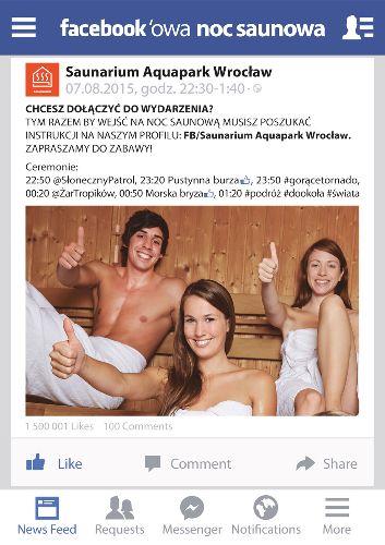 Facebookowa Noc Saunowa
