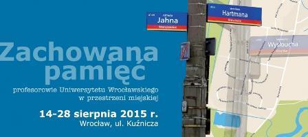 Profesorskie ulice - wystawa plenerowa