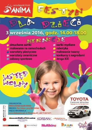 Festyn dla dzieci w Animie na Kozanowie