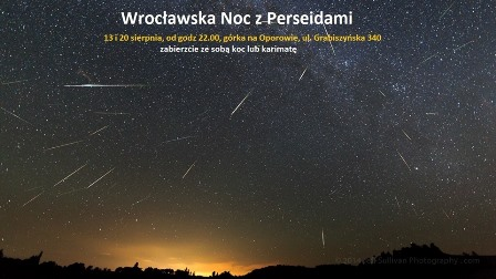 Wrocławska noc z Perseidami
