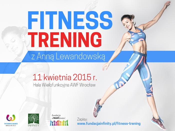 Fitness trening z Anną Lewandowską