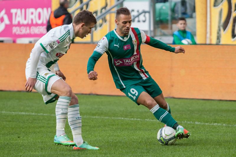 Mecz piłkarskiej ekstraklasy Śląsk Wrocław - Lechia Gdańsk