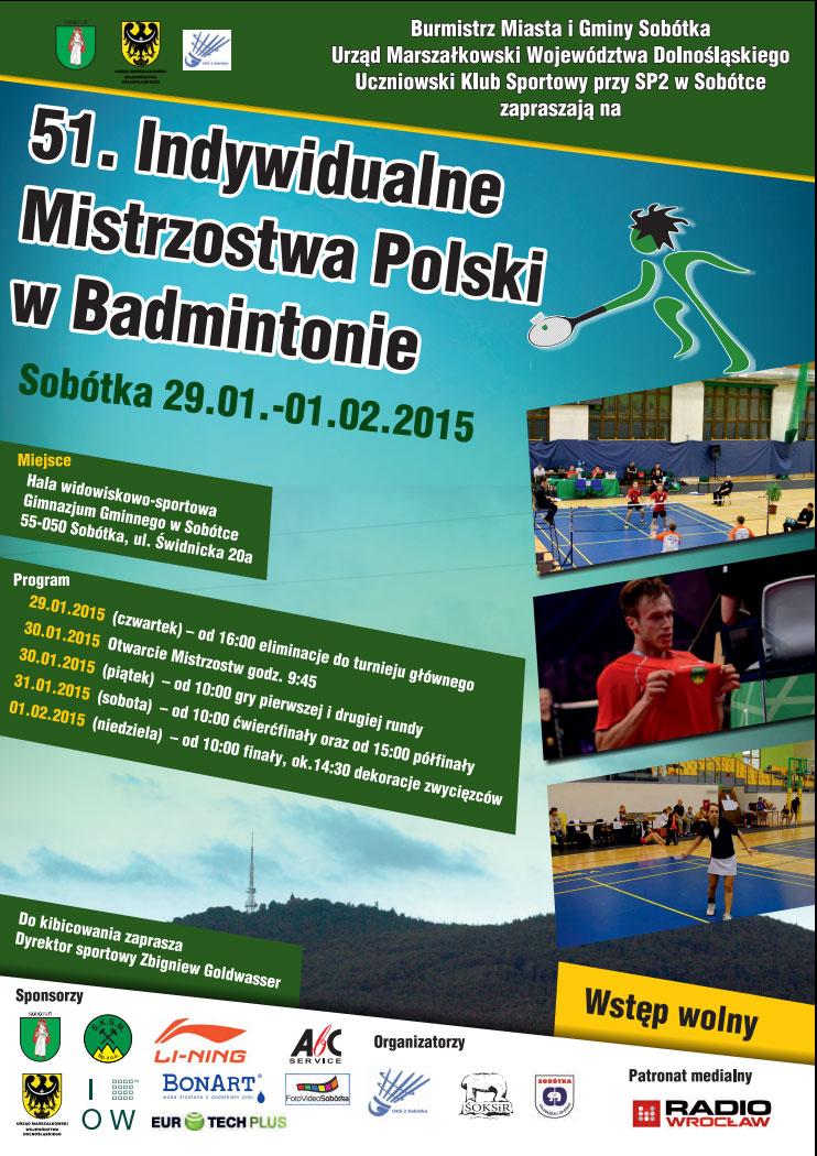 Mistrzostwa Polski w badmintonie w Sobótce