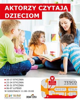 Aktorzy czytają dzieciom w Alei Bielany