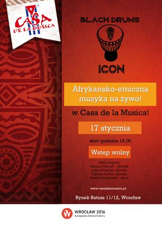 Koncert zespołu Black Drums Icon w Casa de la Musica