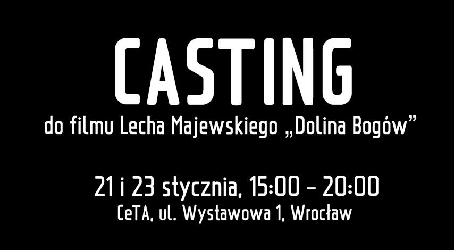 """Casting do filmu """"Dolina Bogów"""""""