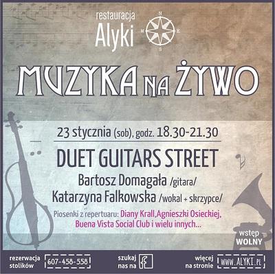 Koncert duetu Guitars Street
