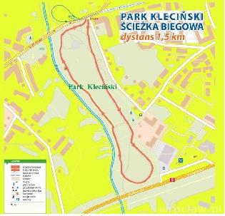 Otwarcie ścieżki biegowej w parku Klecińskim