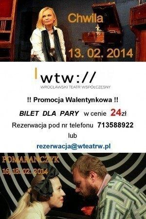 Walentynkowa promocja w teatrze