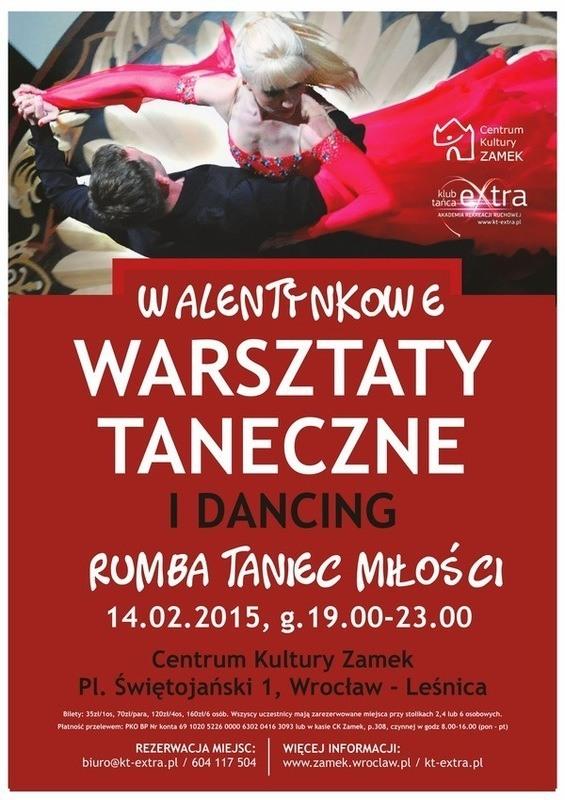 """Taneczne walentynki w CK """"Zamek"""""""