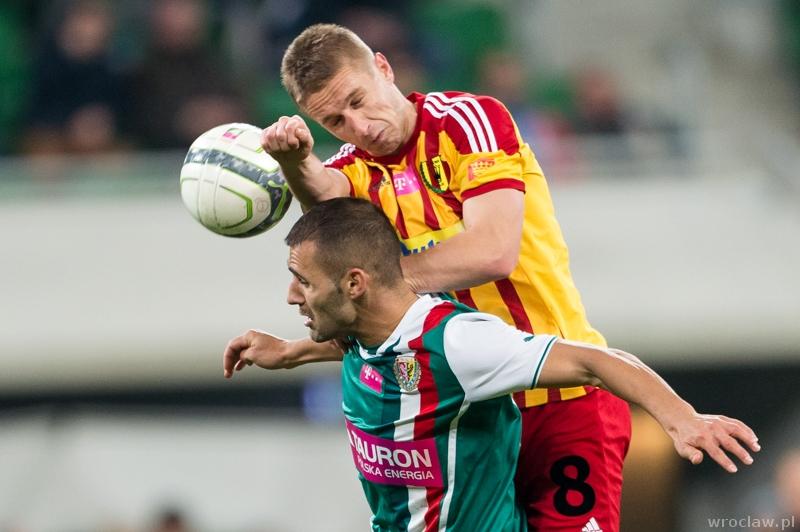 Mecz piłkarskiej ekstraklasy - Śląsk Wrocław - Korona Kielce
