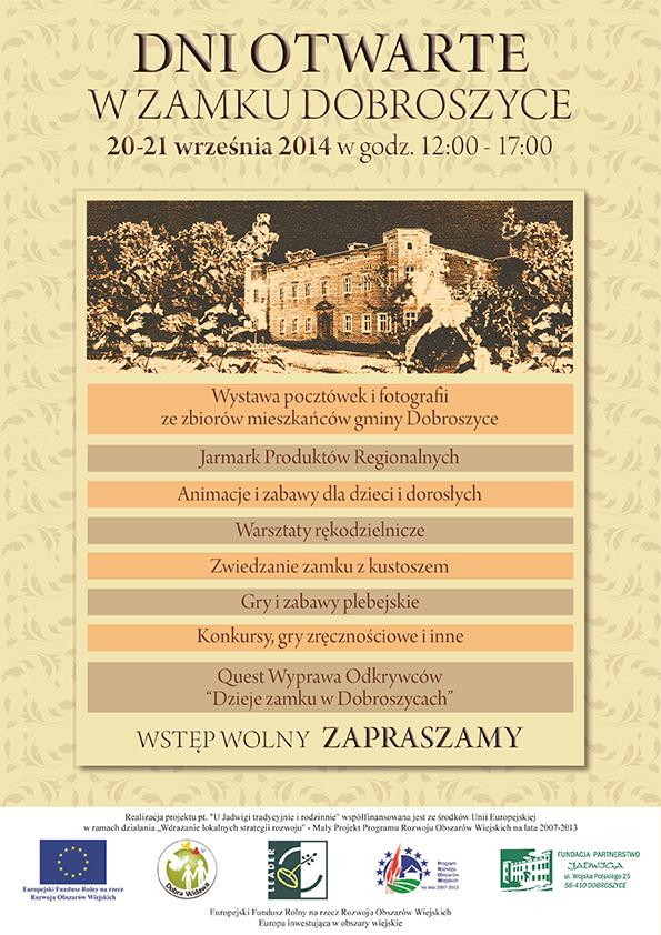 Dni Otwarte w Pałacu Dobroszyce