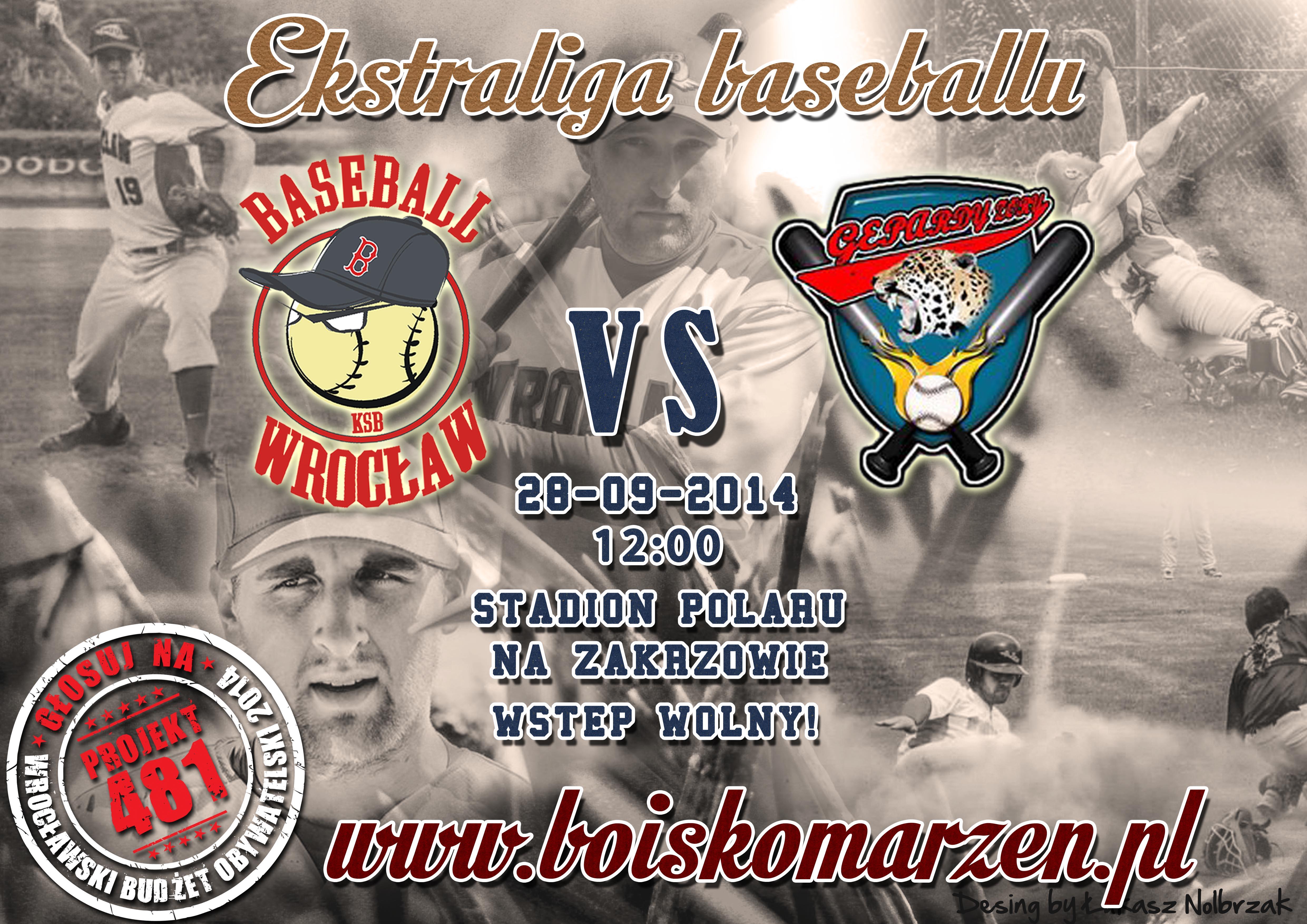 Mecz ekstraligi baseballu - KSB Wrocław - Gepardy Żory