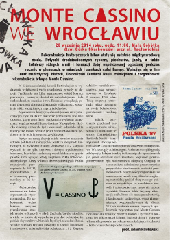 Rekonstrukcja bitwy o Monte Cassino we Wrocławiu