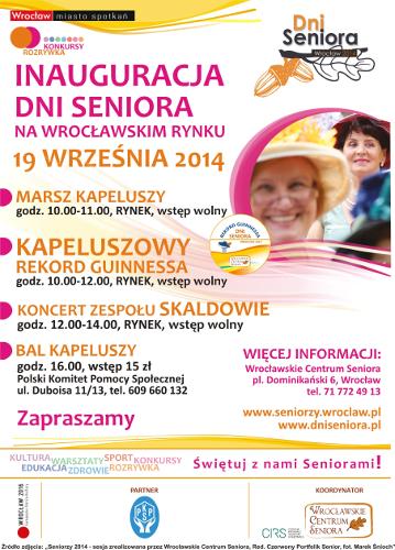 Wrocławskie Dni Seniora: Marsz i Kapeluszowy rekord Guinnessa