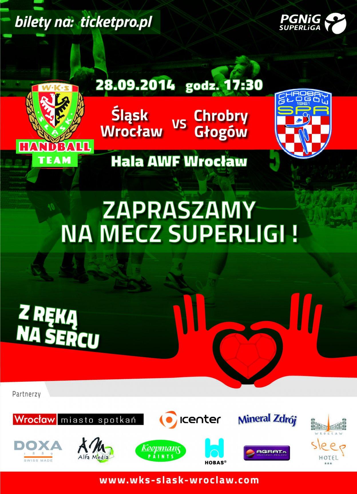 Mecz piłki ręcznej - Śląsk Wrocław - Chrobry Głogów
