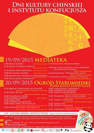 Dni Kultury Chińskiej i Instytutu Konfucjusza
