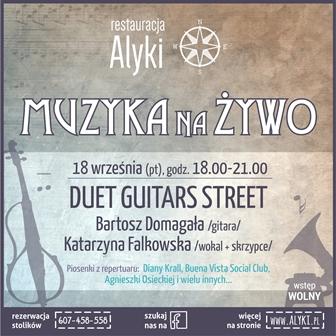 Duet Guitars Street na żywo w restauracji Alyki