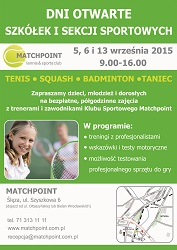 Dni Otwarte Szkółek i Sekcji w Centrum Sportowym Matchpoint