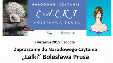 """Narodowe Czytanie """"Lalki"""" Prusa"""