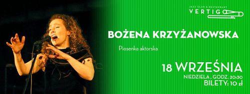 Bożena Krzyżanowska w klubie Vertigo