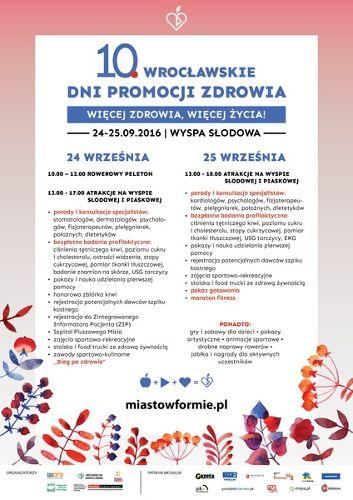 X Wrocławskie Dni Promocji Zdrowia